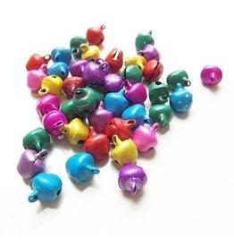 Gekleurde belletjesmix 6 mm (30)