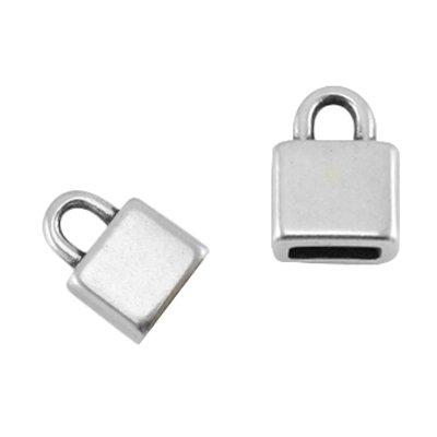 DQ metalen eindkapje voor plat leer 5mm (1x)