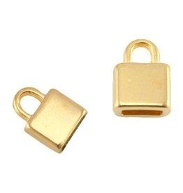 DQ metalen eindkapje goud 5 mm (1x)