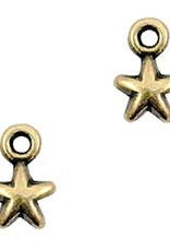 Bedel DQ mini sterretje antiek brons(1x)