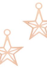 Bedel filigraan ster rose goud (1x)