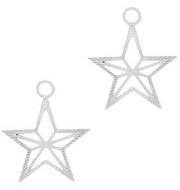 Bedel filigraan ster zilver (1x)