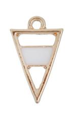 Bedel driehoek goud en emaille (1x)