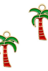 Bedel palmboom goud rood groen (1x)