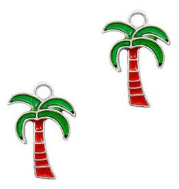 Bedel palmboom zilver rood groen (1x)