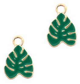 Bedel tropisch blad goud groen (1x)
