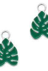 Bedel tropisch blad zilver groen (1x)