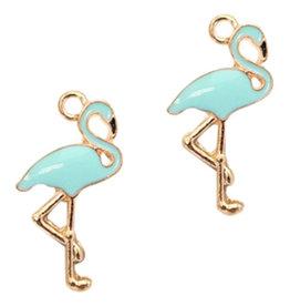 Bedel flamingo goud / lichtblauw (1x)