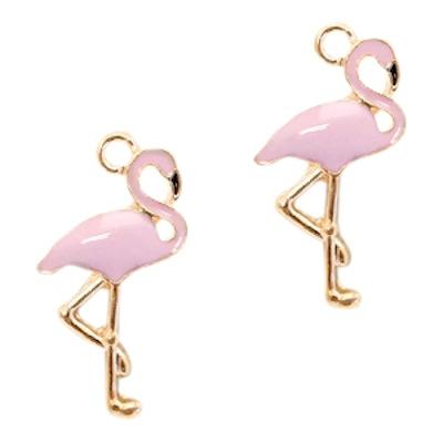 Bedel flamingo goud / lichtroze (1x)