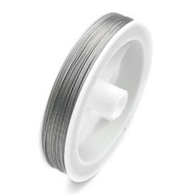Gecoat staaldraad / metaaldraad 0,3 mm (40m)