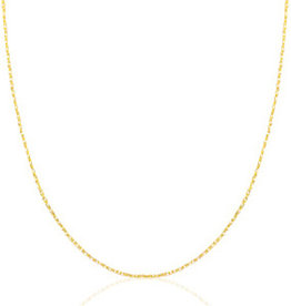 Basisketting rvs goud schakel 55 cm x 1 mm