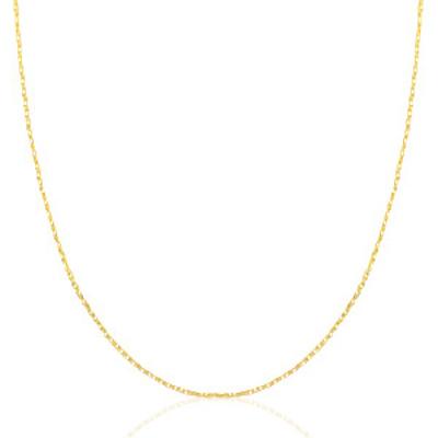 Basisketting rvs goud schakel div lengtes x 1 mm