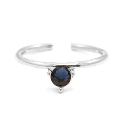 Ring zilver donkerblauw