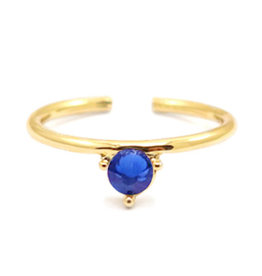Ring goud donkerblauw