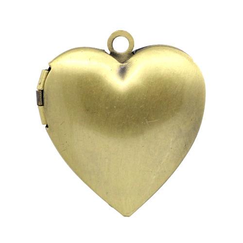Medaillon koper hartje (1x)