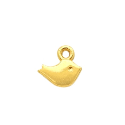 DQ bedel mini vogeltje goud 8 mm (1x)