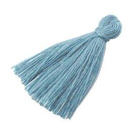 Kwastje - grijsblauw (2x)