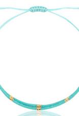 Armbandje miyuki turquoise blauw
