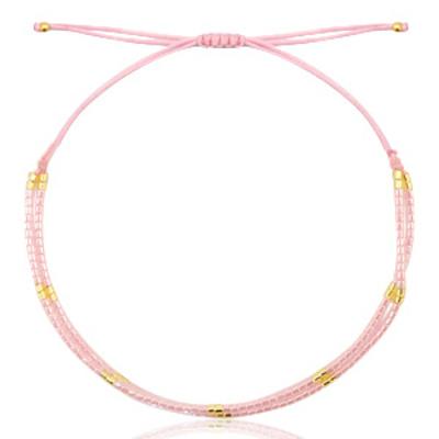 Armbandje miyuki roze