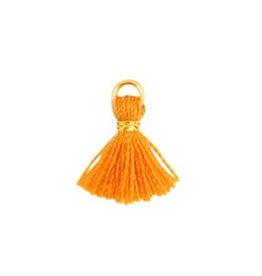 Minikwastje 1 cm oranje/goud