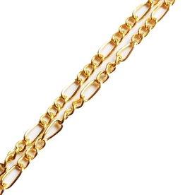 Schakelketting goudkleurig (p/10 cm)