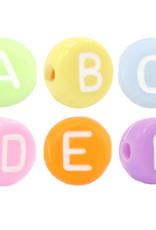 Gekleurde letterkralenmix (250x)