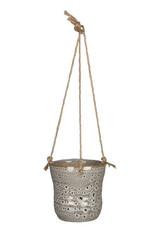 Hangpot wit gevlekt