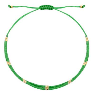 Armbandje miyuki groen