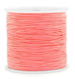 Macramedraad coral pink 0,8 mm (5m)