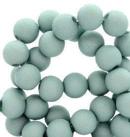 Acrylkraal vergrijsd turquoise 4 mm (50x)
