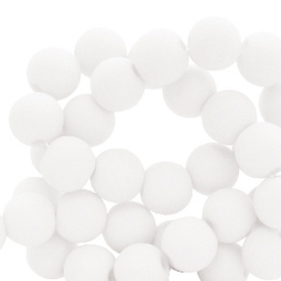 Acrylkraal wit 4 mm (50x)