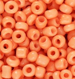 Glaskralen rocailles 4 mm 6/0 oranje (10gr)