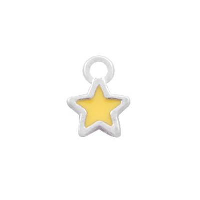 Bedel bq metaal mini ster geel zilver (1x)