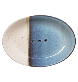 Tranquillo Zeepbakje keramiek blauw wit ovaal