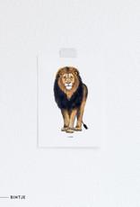 Meesie & Bintje Kaart leeuw