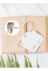 Meesie & Bintje Stickers luipaard (25x)