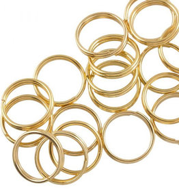 Rvs splitring goud 10 mm (4x)