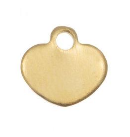 Bedel rvs minihartje goud (1x)