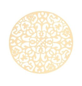 Bohemian filigraanhanger rond goud 40mm (1x)