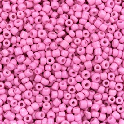 Glaskralen rocailles 2 mm 12/0 taffy pink(10gr)