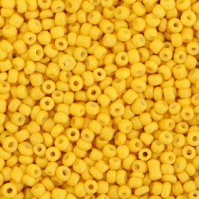 Glaskralen rocailles 2 mm 12/0 geel (10gr)