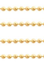 Ball chain rvs verguld