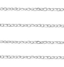 Schakelketting Sterling zilver 1 mm (per 10 cm)