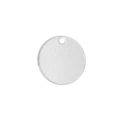 Bedel sterling zilver plat muntje (1x)