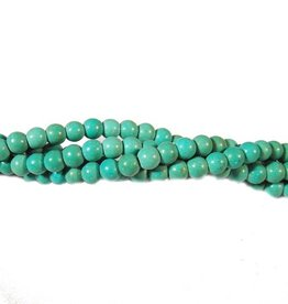 Turquoise kraal 4 mm (15x of streng)