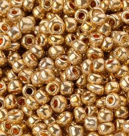 Glaskralen/ rocailles goud 2 mm (10 gram)