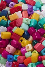 Glasrocailles kubus kleurmix (50x)