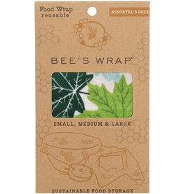 Bee's wrap Bee's wrap set van 3 -assorti  forrest