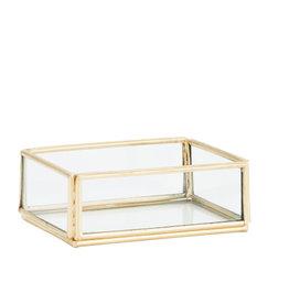 Madame Stoltz Glazen tray goud klein