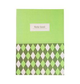 Tranquillo Notebook / schriftje groen